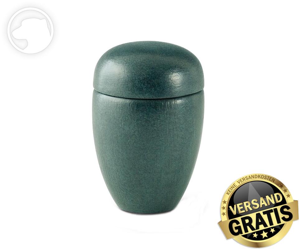 Tierurne Ceramica 0,5 Liter grün gesprenkelt