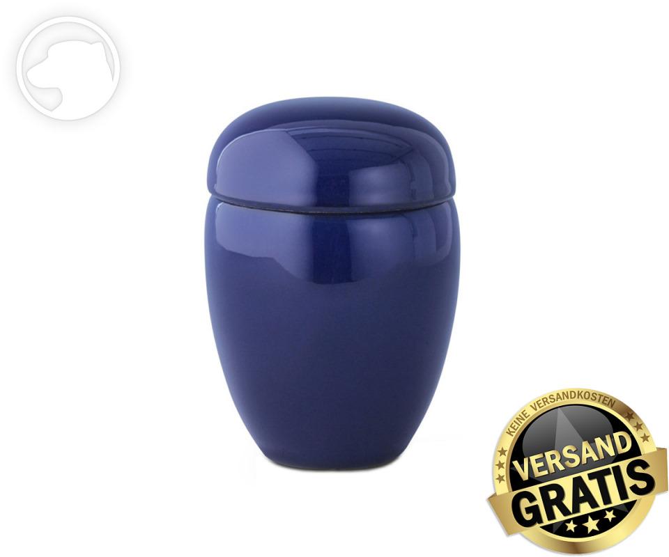 Tierurne Ceramica 0,5 Liter kobalt-blau