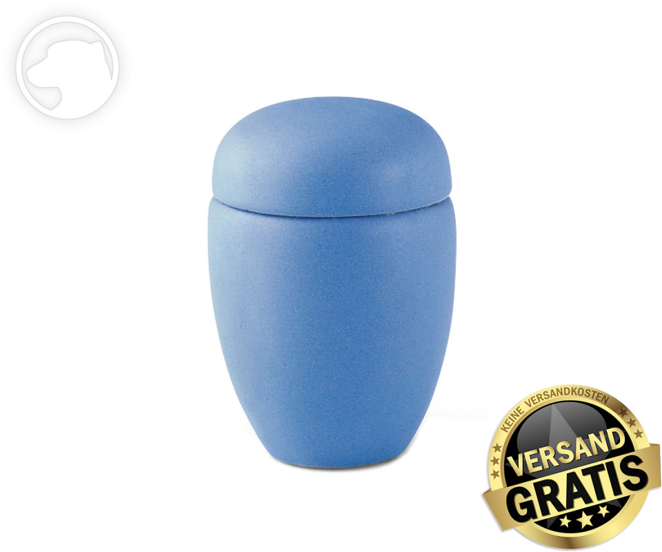 Tierurne Ceramica 0,5 Liter mittelblau