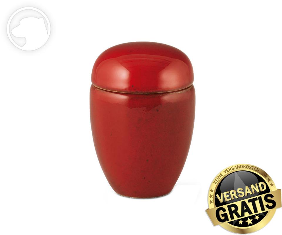 Tierurne Ceramica 0,5 Liter rot