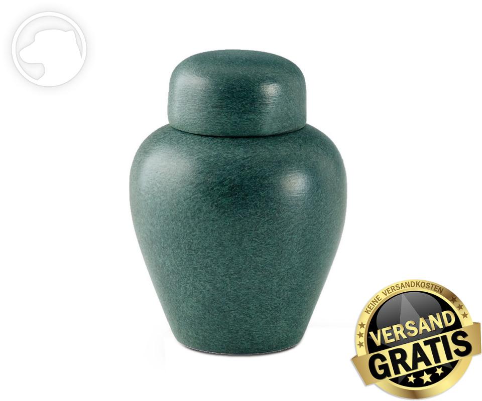 Tierurne Ceramica 1,0 Liter grün gesprenkelt