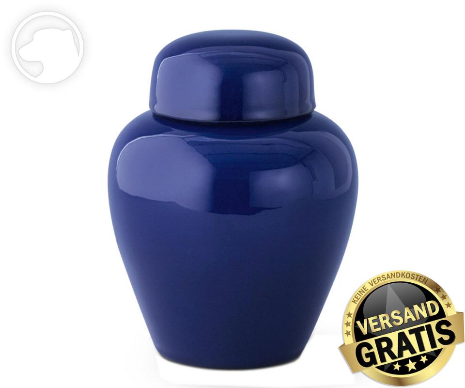 Tierurne Ceramica 1,0 Liter kobalt-blau