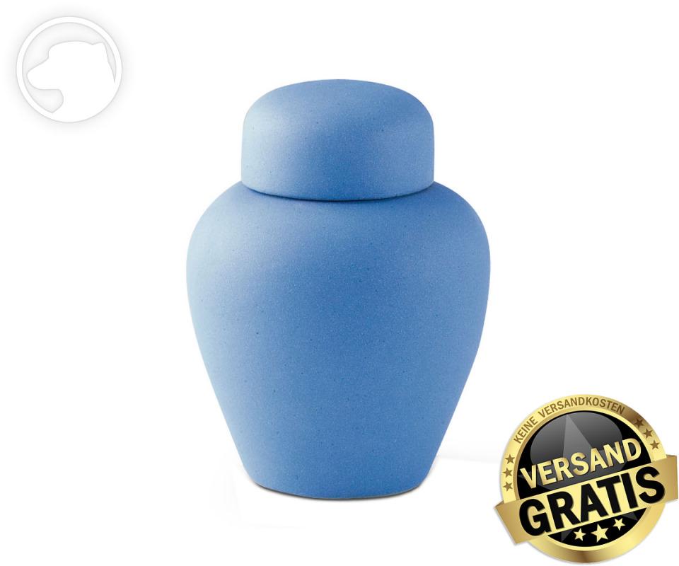 Tierurne Ceramica 1,0 Liter mittelblau