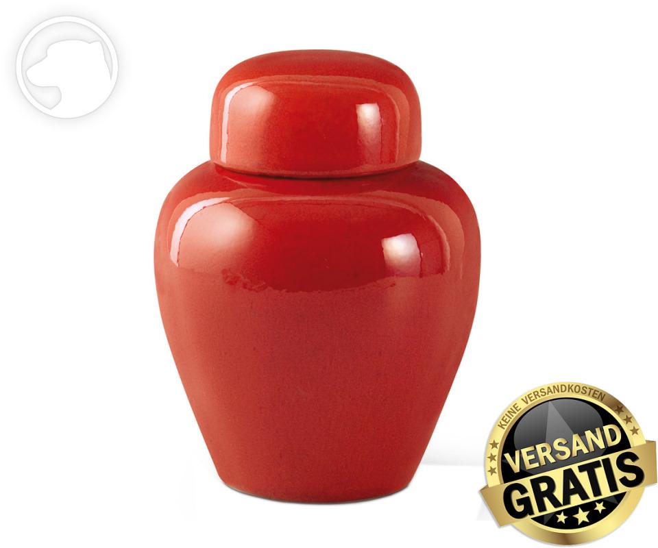 Tierurne Ceramica 1,0 Liter rot