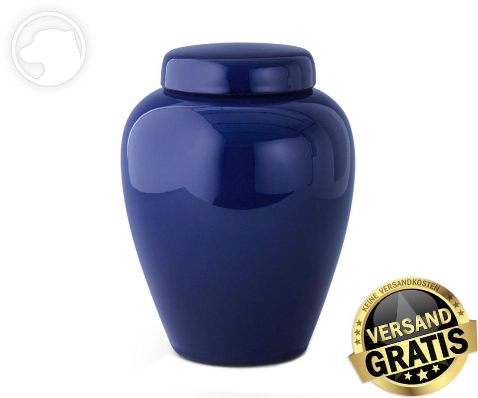 Tierurne Ceramica 2,8 Liter kobalt-blau