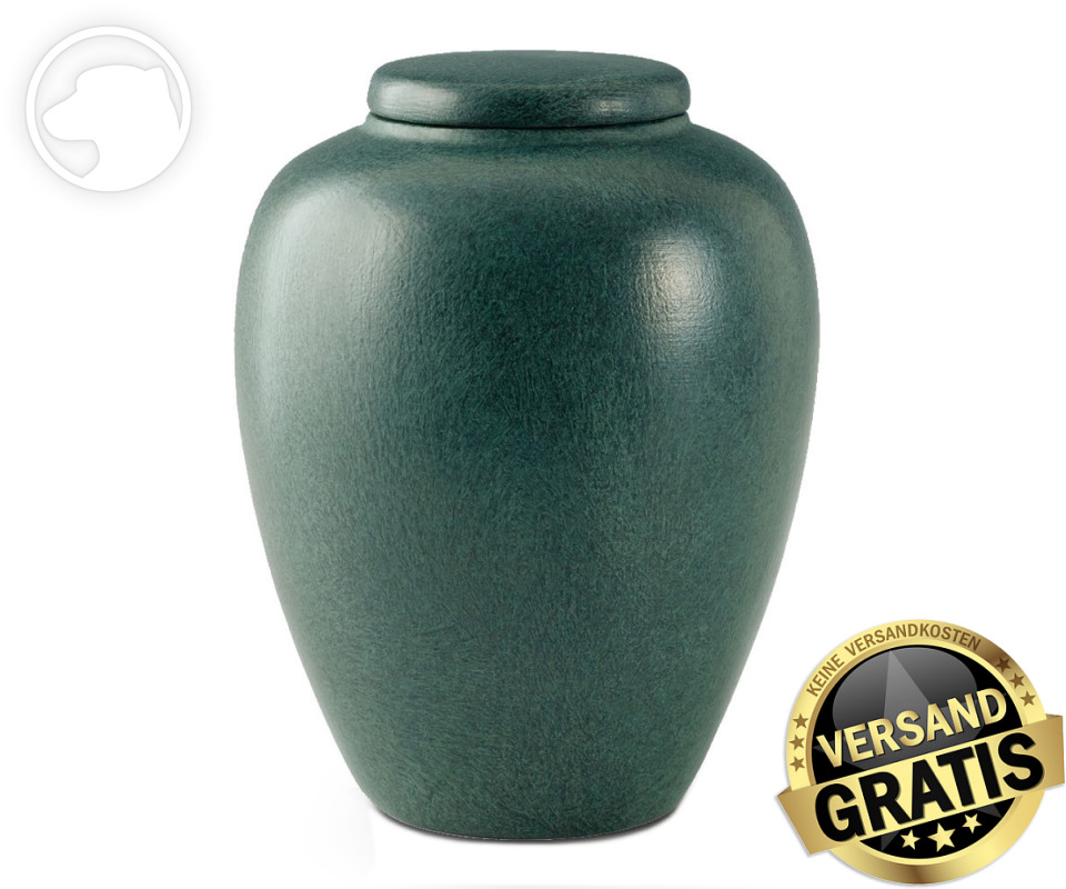 Tierurne Ceramica 4,0 Liter grün gesprenkelt